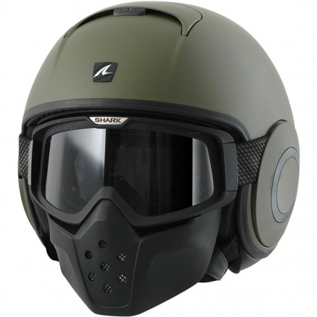 CASCO SHARK DRAK BLANK VERDE MATE