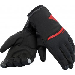 GUANTES DAINESE PLAZA 2 DDRY NEGRO ROJO