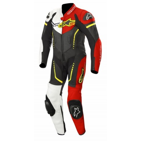 MONO ALPINESTARS YOUTH GP PLUS 1 PIEZA NEGRO BLANCO ROJO AMARILLO FLUOR