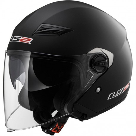 CASCO LS2 OF569 TRACK NEGRO MATE