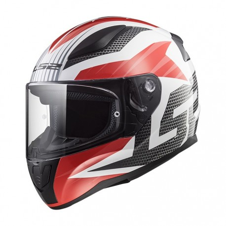 CASCO LS2 FF353 RAPID GRID BLANCO ROJO