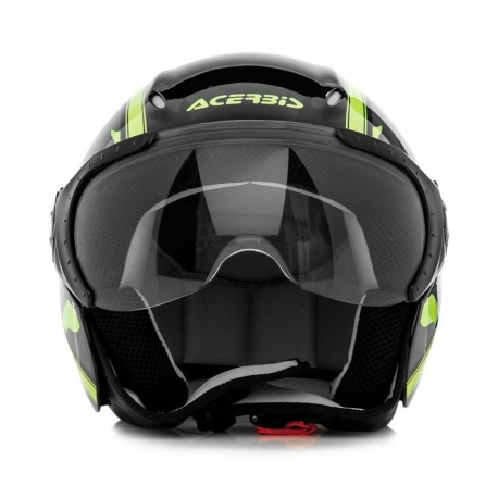CASCOS ACERBIS X-JET ON BIKE NEGRO AMARILLO FLUOR