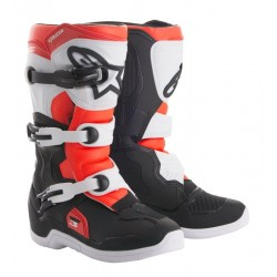 BOTAS ALPINESTARS TECH 3S YOUTH NEGRO BLANCO ROJO FLUOR
