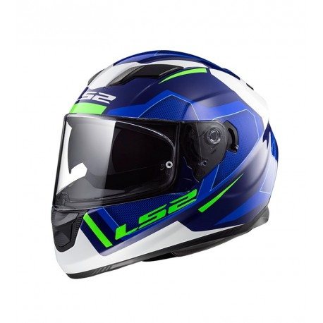 CASCO LS2 FF320 STREAM EVO AXIS AZUL BLANCO