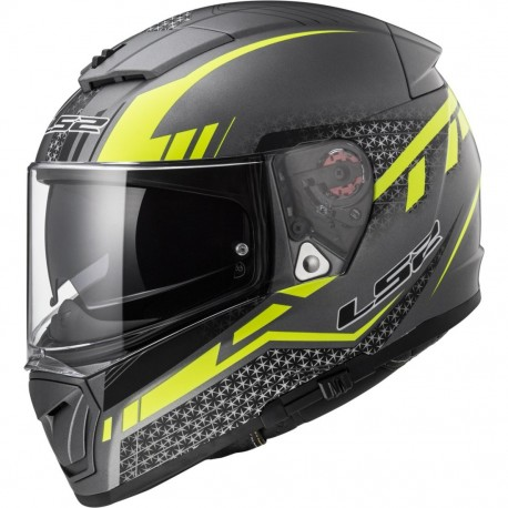 CASCO LS2 FF390 BREAKER SPLIT TITANIO MATE AMARILLO