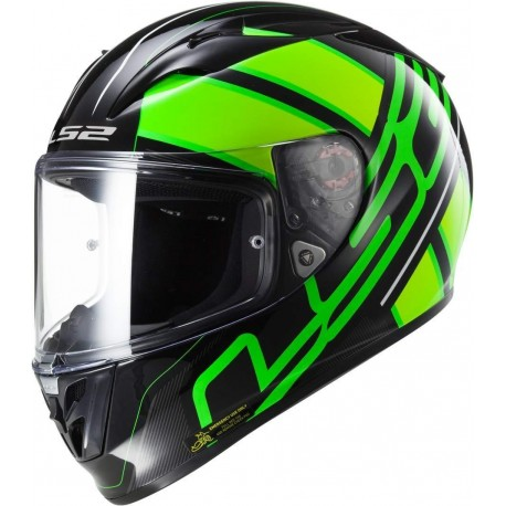 CASCO LS2 FF323 ARROW R EVO ION NEGRO VERDE