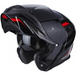 CASCO SCORPION EXO920 SHUTTLE NEGRO ROJO