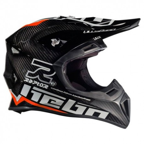 CASCO HEBO ENDURO MX RAPTOR CARBON ROJO