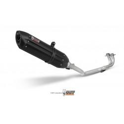 ESCAPE MIVV COMPLETO SUONO BLACK INOX NEGRO PARA YAMAHA T-MAX 500 (01-07)
