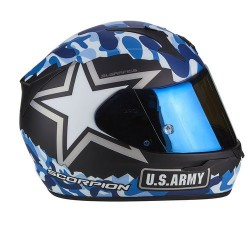 CASCO SCORPION EXO-390 ARMY NEGRO MATE AZUL