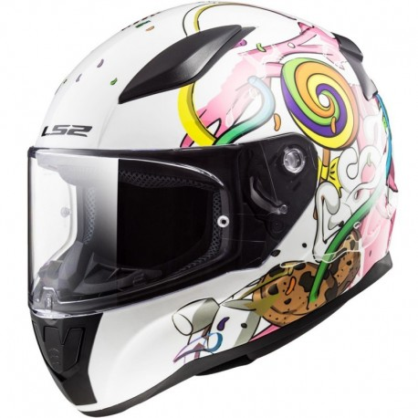 CASCO LS2 FF353 RAPID MINI CRAZY POP BLANCO ROSA