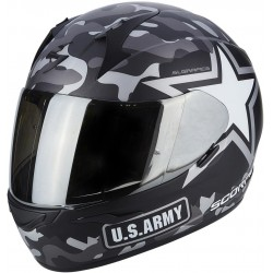 CASCO SCORPION EXO-390 ARMY NEGRO MATE PLATA