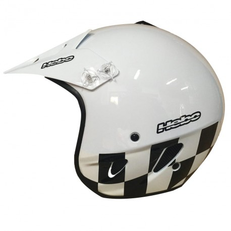 CASCO HEBO TRIAL ZONE FLAG BLANCO
