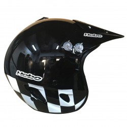 CASCO HEBO TRIAL ZONE FLAG NEGRO