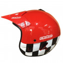 CASCO HEBO TRIAL ZONE FLAG ROJO