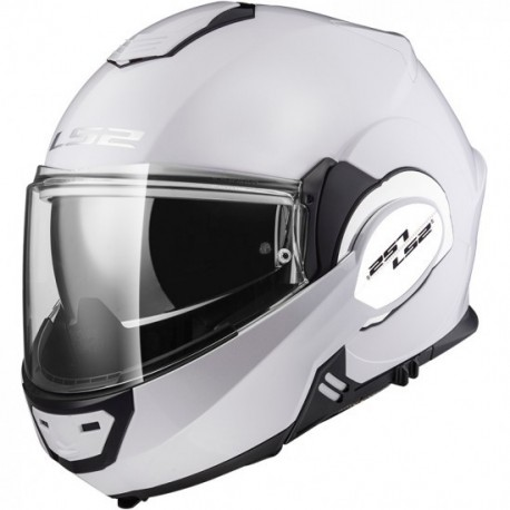 CASCO LS2 FF399 VALIANT SINGLE MONO BLANCO