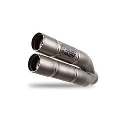 ESCAPE MIVV DOUBLE GUN TITANIO PARA KAWASAKI Z 750 R (11-14)