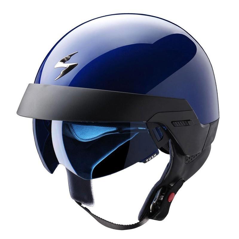 casco scorpion exo 100 solido azul motos garrido. Black Bedroom Furniture Sets. Home Design Ideas