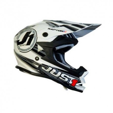 CASCO JUST 1 J32 RAPTOR BLANCO