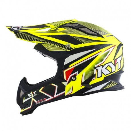 CASCO KYT STRIKE EAGLE AMARILLO FLUOR