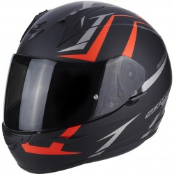 CASCO SCORPION EXO 390 HAWK NEGRO MATE ROJO