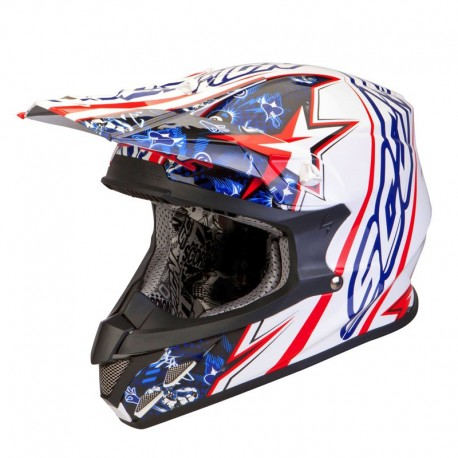 CASCO SCORPION VX20 WIN WIN BLANCO/ROJO