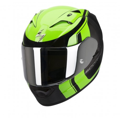 CASCO SCORPION EXO1200 STREAM TOUR NEGRO VERDE