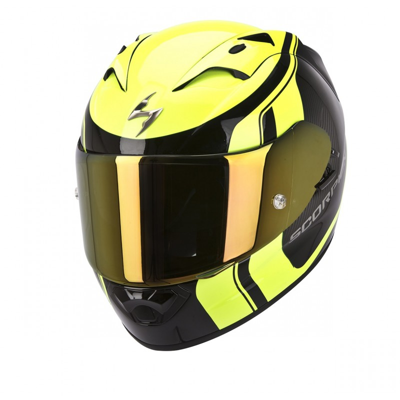 casco scorpion exo1200 stream tour negro amarillo motos. Black Bedroom Furniture Sets. Home Design Ideas