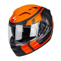CASCO SCORPION EXO1200 STREAM TOUR NEGRO NARANJA