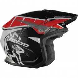 CASCO HEBO TRIAL ZONE 5 T-ONE ROJO
