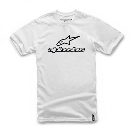 T-SHIRT ALPINESTARS ALWAYS BRANCO PRETO