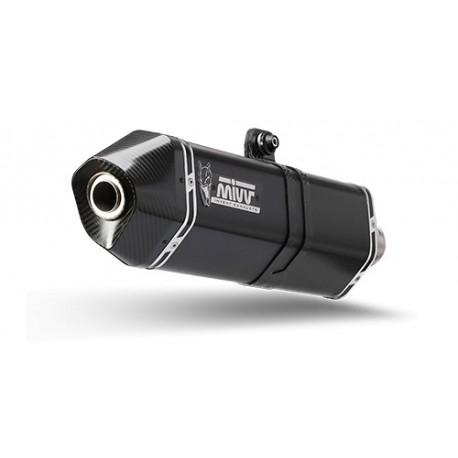 ESCAPE MIVV SPEED EDGE BLACK NEGRO PARA HONDA NC 750 S/X (14-15)