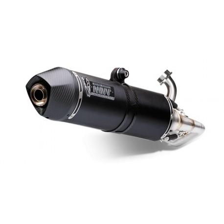 ESCAPE MIVV COMPLETO STRONGER BLACK INOX NEGRO PARA HONDA SH 300 (07-14)