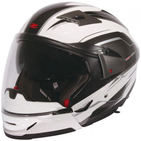 CASCO ZEUS 611A GAFAS BLANCO DECORADO