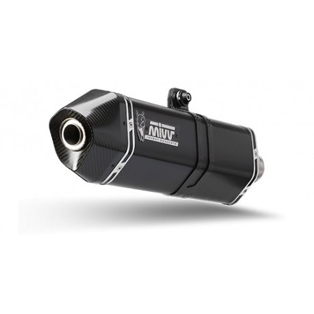 ESCAPE MIVV SPEED EDGE BLACK INOX NEGRO PARA BMW R 1200 R (11-14)