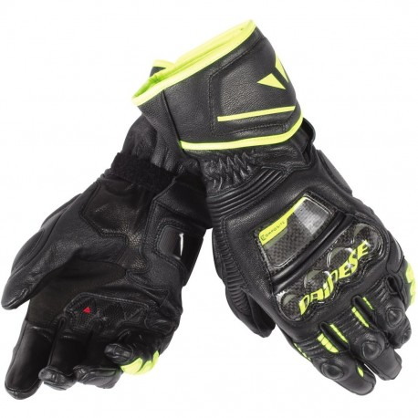 GUANTES DAINESE DRUID D1 LONG NEGRO AMARILLO FLUOR