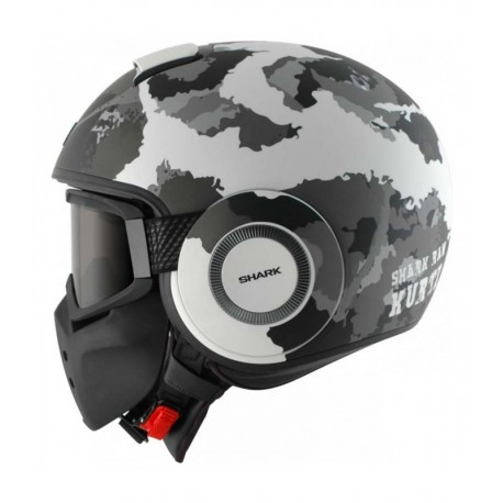 CASCO SHARK RAW KURTZ BLANCO PLATA ANTRACITA