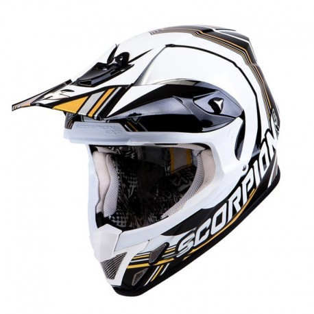 CASCO SCORPION VX20 AIR SPOT NEGRO BLANCO