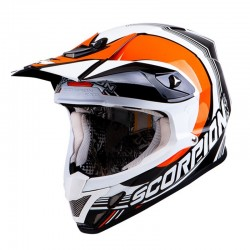 CASCO SCORPION VX20 AIR SPOT NEGRO NARANJA