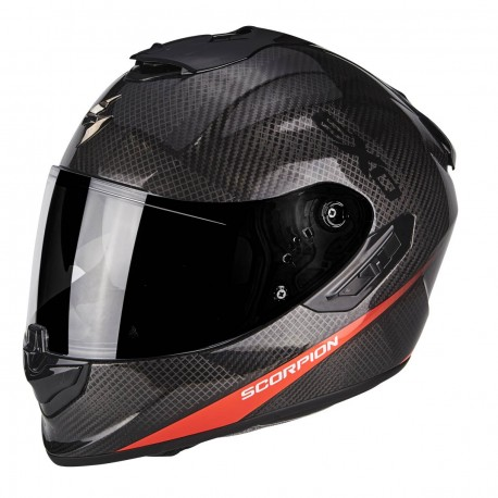 CASCO SCORPION EXO 1400 CARBON PURE ROJO