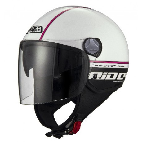CASCO NZI CAPITAL 2 DUO RIDON BLANCO ROSA