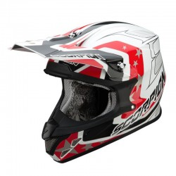 CASCO SCORPION VX20 SPACE BLANCO ROJO NEGRO