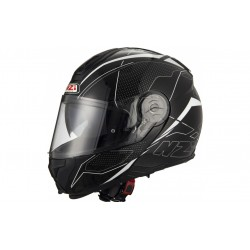 CASCO NZI COMBI DUO GRAPHICS SWORD NEGRO BLANCO