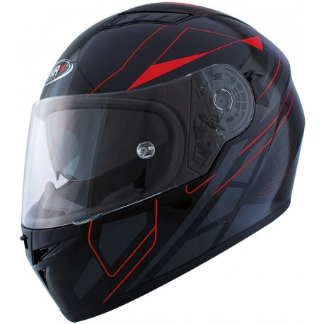 CASCO SHIRO SH-881 ELITE NEGRO MATE ROJO