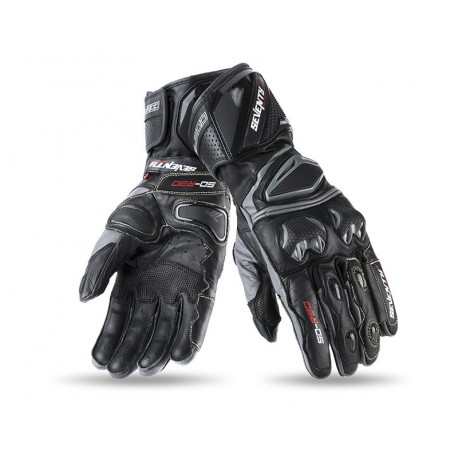 GUANTES SEVENTY DEGREES SD-R2 NEGRO GRIS
