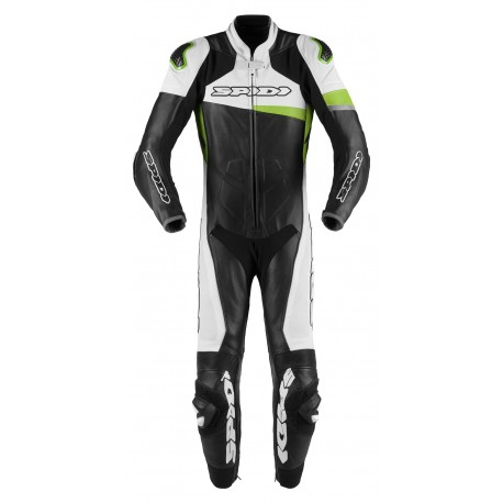 MONO SPIDI RACE WARRIOR PERFORADO 1 PIEZA NEGRO BLANCO VERDE