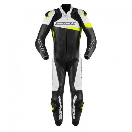 MONO SPIDI RACE WARRIOR PERFORADO 1 PIEZA NEGRO BLANCO AMARILLO